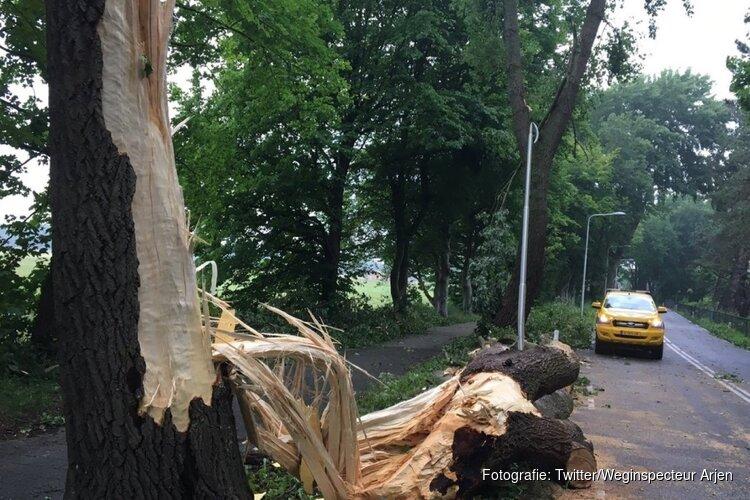 N206 tussen Vogelenzang en Aerdenhout hele dag dicht na noodweer