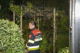 Brand in tuin bij de Van Verschuer Brantslaan in Bennebroek