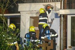 Brand in woning aan de Kleine Sparrenlaan in Bennebroek